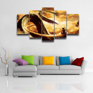 Printed Dragon Ball Z Goku Picture Canvas Painting for Wall Art Home Decor Living Room Large Poster Prints painting frameless