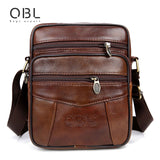 Genuine Leather Bag Men's Travel Business Shoulder Bag