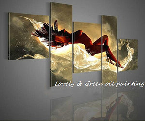 Sleeping Beauty 5 multicolored handed painting canvas Modern Decorative Portfolio Abstract art Dance Beautiful oil paintings