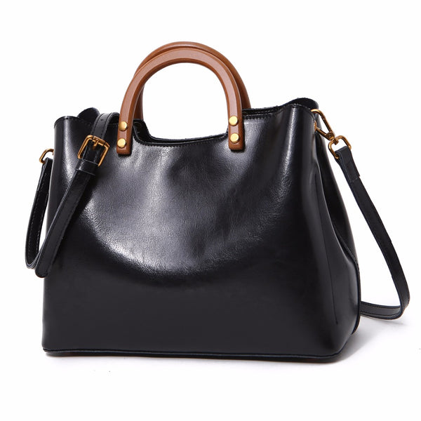 Genuine Leather Casual Fashion  Tote Hand bag
