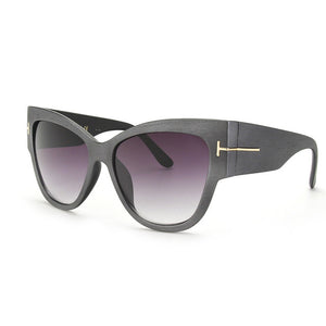 "ROYAL GIRL Luxury Brand Designer Women"" Cat Eye Sun Glasses"