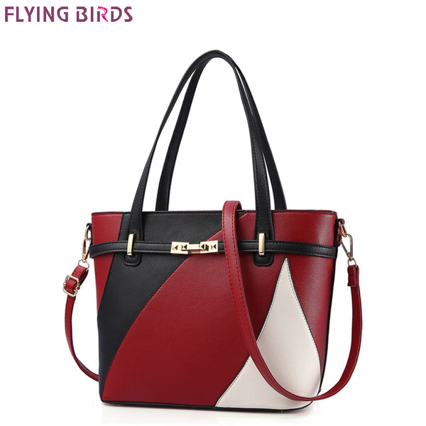 FLYING BIRDS Patchwork  Design Handbag High Quality Bolsas Mujer