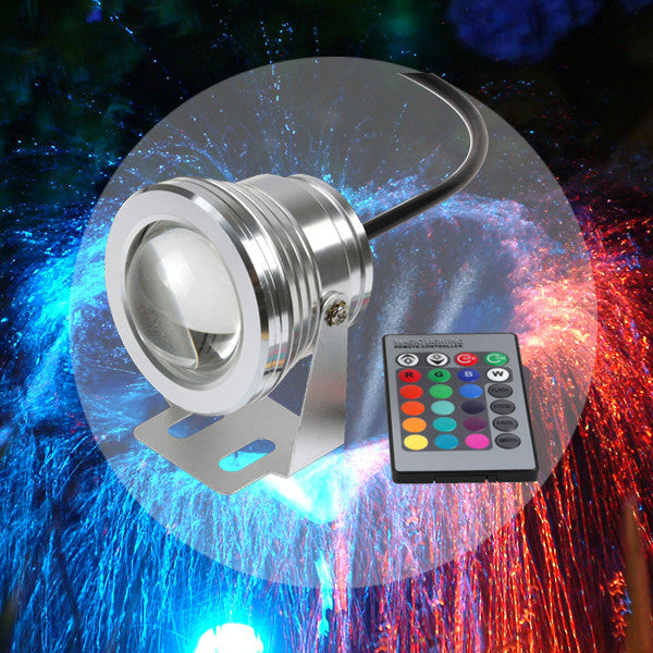 16 Colors 10W DC 12V RGB LED Underwater Fountain Light 1000LM