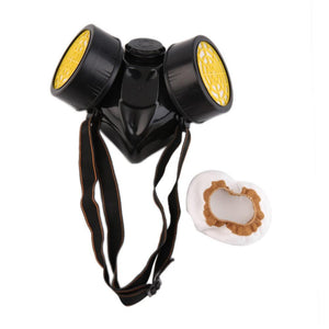 Emergency Survival Safety Respiratory Gas Mask With 2x Filter