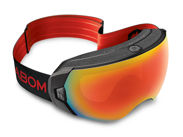 Abom HEET Goggle Sunrise Red Mirror