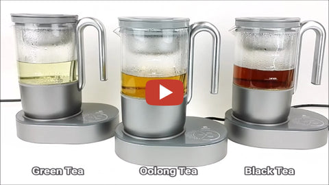 Demo of 3 Qi Aerista brewers making 3 different teas
