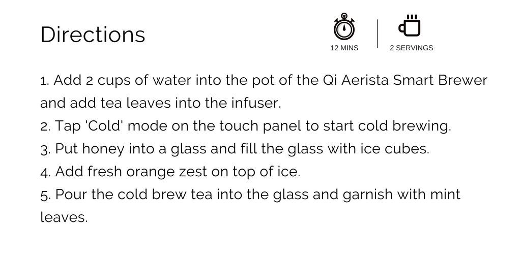 Iced orange tea recipe