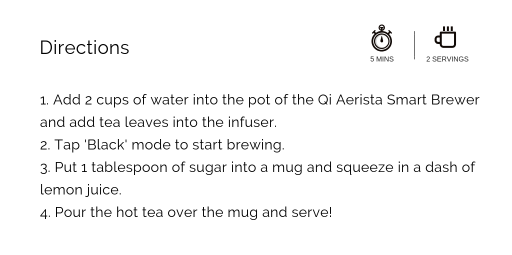 Recipe black tea