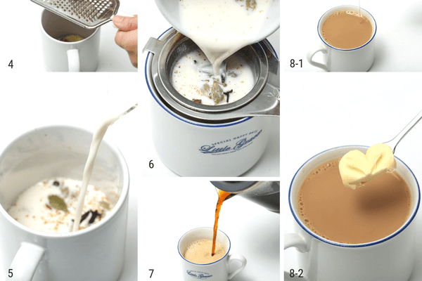 instruction for making chai tea