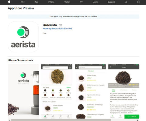 Get the Qi Aerista app on App Store now!
