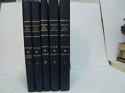 Pentateuch And Rashi's Commentary Linear English Translation Bible Study Critica