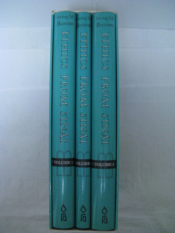 3 Vol Set Chapters(Ethics) Of The Fathers Pirkei Avot(Avos) Irving Bunim English