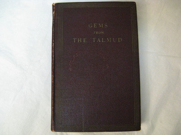 Gems From The Talmud Rev. Isidore Myers BA 1927 Translated Into English Verse