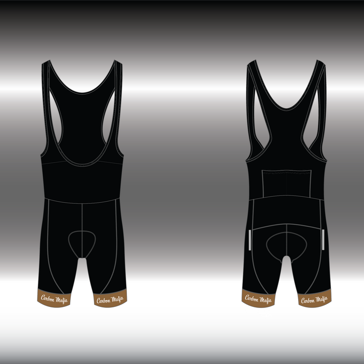 WOMENS CYCLING BIB SHORTS -  CAFE RACER