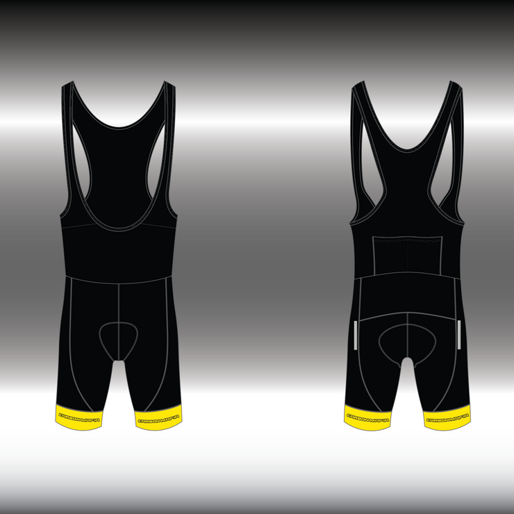 WOMENS CYCLING BIB SHORTS -  FLURO YELLOW CELL