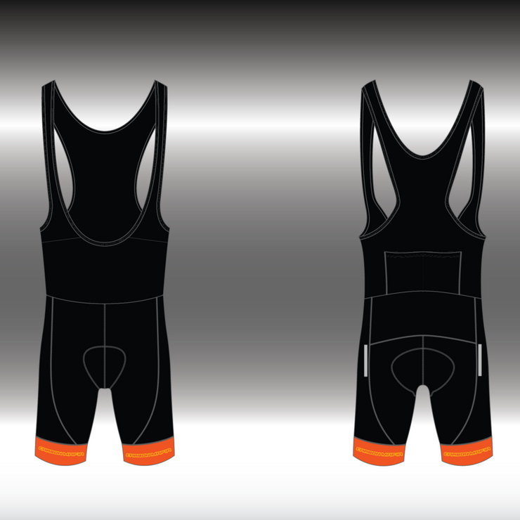 MENS CYCLING BIB SHORTS - LAVA CELL