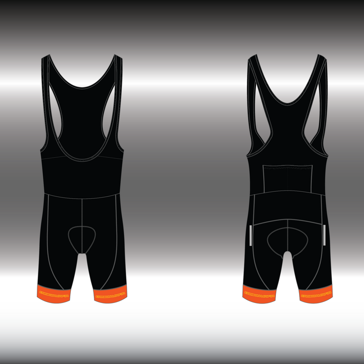 WOMENS CYCLING BIB SHORTS -  LAVA CELL