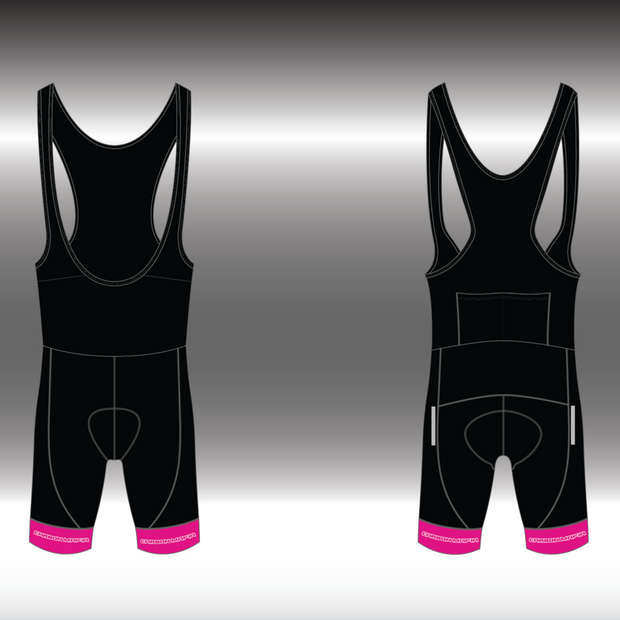 MENS CYCLING BIB SHORTS -  PINK WHITE CELL