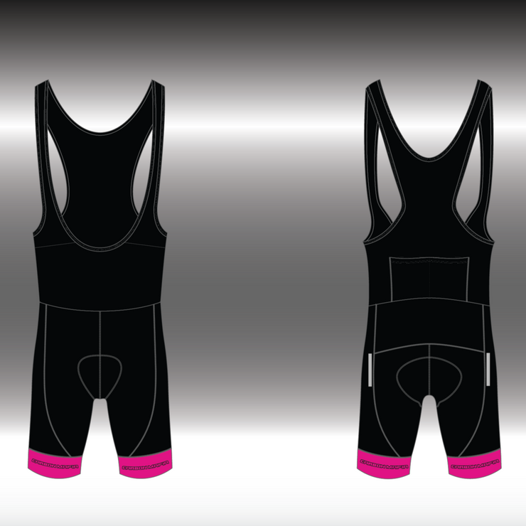 MENS CYCLING BIB SHORTS -  PINK BLACK CELL