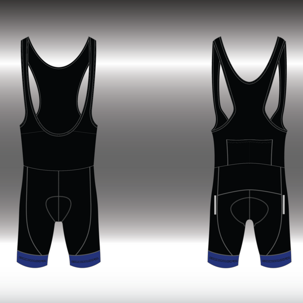 MENS CYCLING BIB SHORTS - BLUE CELL