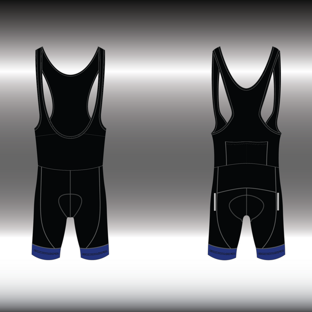 WOMENS CYCLING BIB SHORTS -  BLUE CELL
