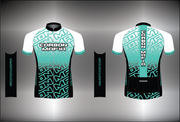 WOMENS CYCLING JERSEY - CELESTE FADE CELL