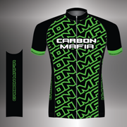 WOMENS CYCLING JERSEY - FLURO GREEN CELL