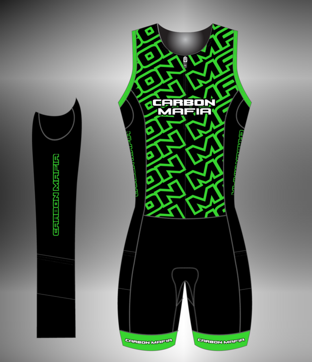 WOMENS SLEEVELESS TRI SUIT - FLURO GREEN