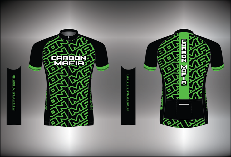 MENS CYCLING JERSEY - FLURO GREEN CELL