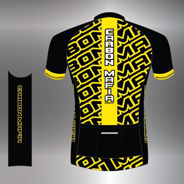 MENS CYCLING JERSEY - FLURO YELLOW CELL