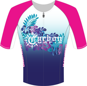WOMEN'S HIBISCUS MID-SLEEVE TRI TOP
