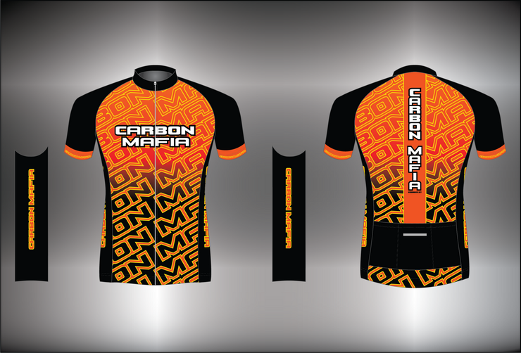 MENS CYCLING JERSEY - LAVA CELL