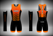 WOMENS SLEEVELESS TRI SUIT - LAVA