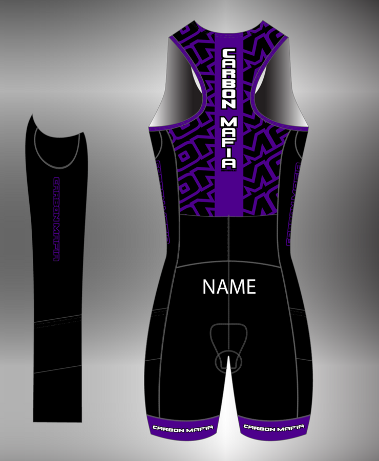 WOMENS SLEEVELESS TRI SUIT - PURPLE
