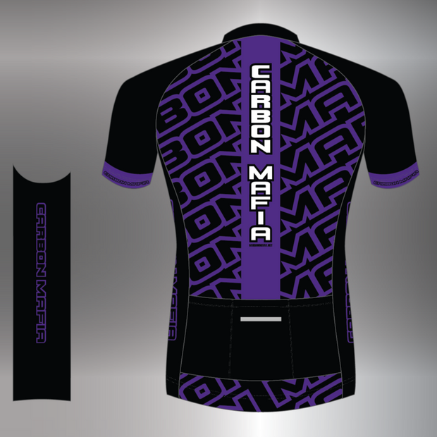MENS CYCLING JERSEY - PURPLE CELL
