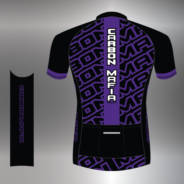 WOMENS CYCLING JERSEY - PURPLE CELL