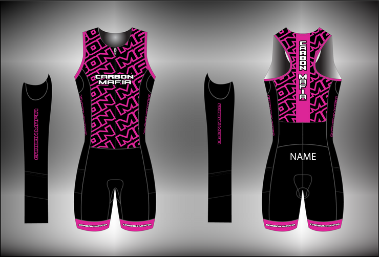 WOMENS SLEEVELESS TRI SUIT - PINK