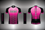 WOMENS CYCLING JERSEY - PINK FADE CELL