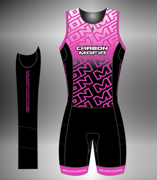 WOMENS SLEEVELESS TRI SUIT - PINK FADE