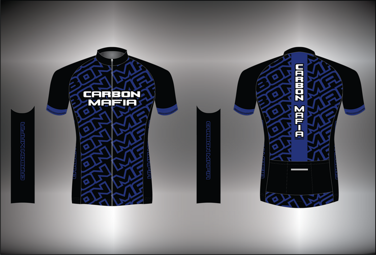 WOMENS CYCLING JERSEY - BLUE CELL