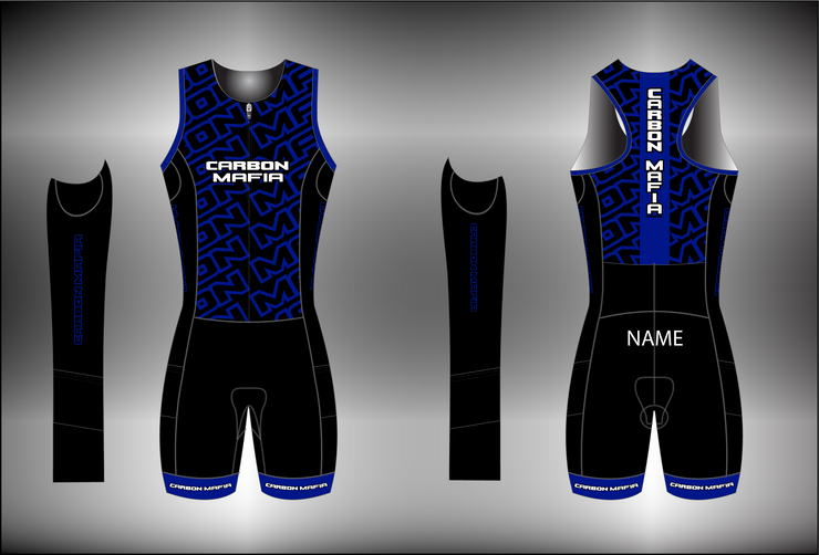 WOMENS SLEEVELESS TRI SUIT - BLUE