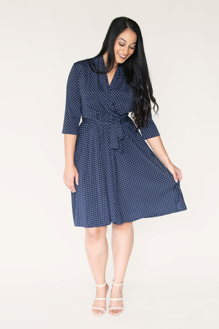 Courtland Print | Elbow Sleeve Wrap Dress