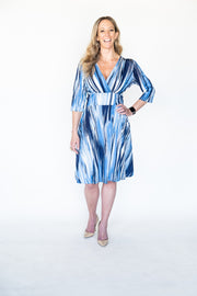 Vesey Print | 3/4 Sleeve Dress