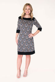Waverly Print | Elbow Sleeve Shift Dress