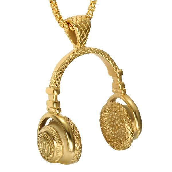 Gold Headphone Necklace - OGClout