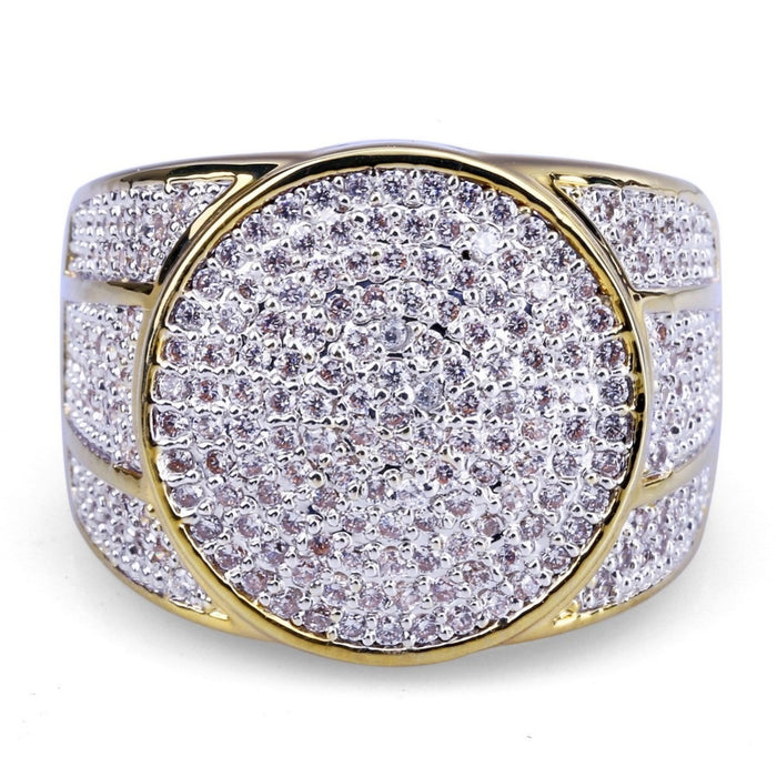 Iced Out Round-Shaped Ring - OGClout