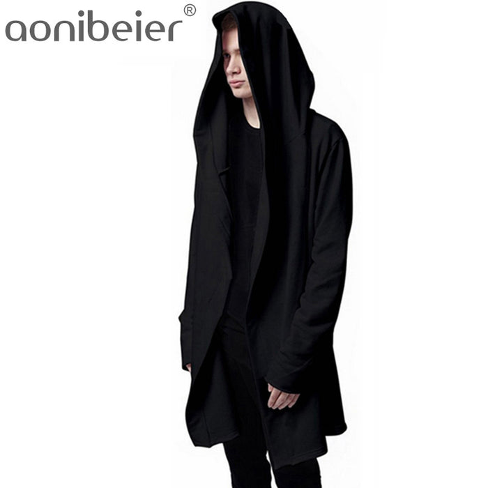 Hip Hop Mantle Long Sleeve  Fashionable Hooded Jacket - OGClout