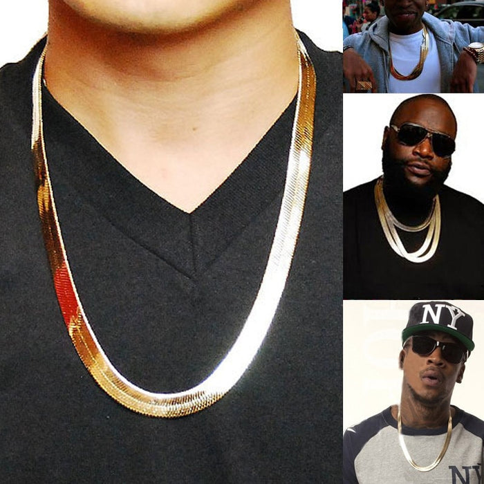 Long/Choker 10MM Vintage Casual Gold Color Hip Hop Chain For Men - OGClout