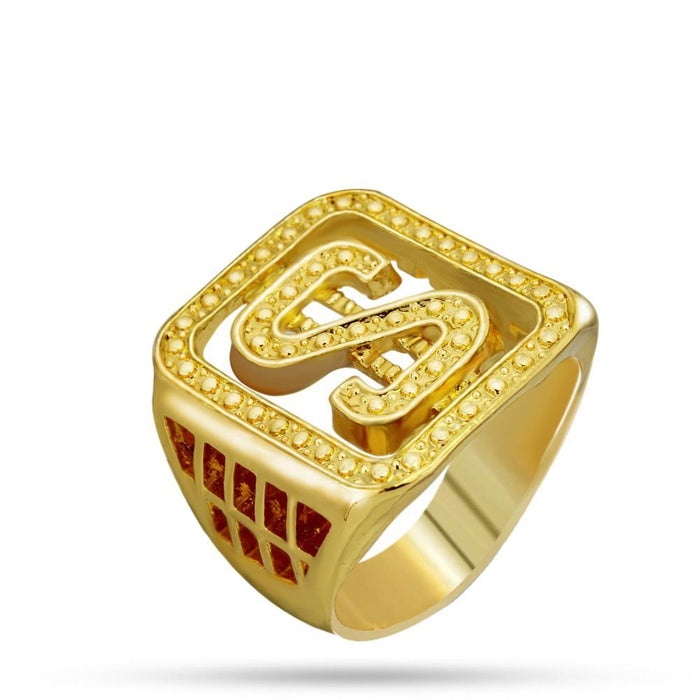 Gold Dollar Sign Ring - OGClout