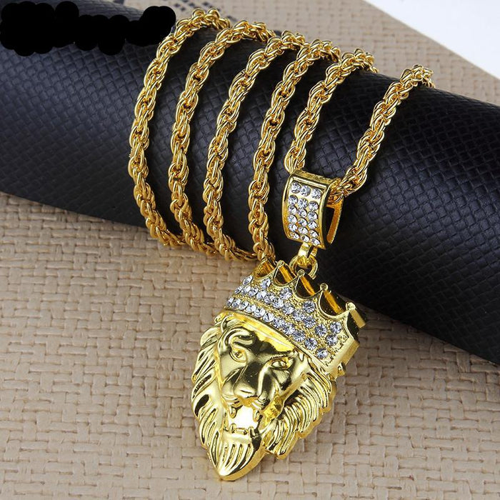 King Lion Pendant Necklace - OGClout